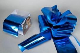 X006ZR Box of 5 automatics blue knots D140mm