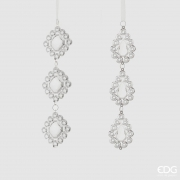 X008QL Assorted transparent pendant ornament H22cm