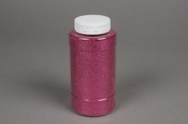 X009BW Glitter pot 400g fuchsia