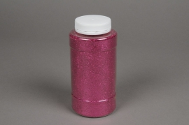 X009BW Pot 400g paillettes fuchsia
