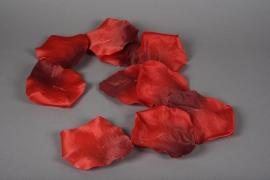 x009fz Guirlande de pétale de rose rouge D13cm H150cm