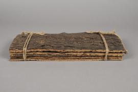 x009hm Paquet de 5 écorces de liège naturel 25cm x 80cm