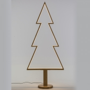 X010R5 Natural wooden Christmas tree with LED H170cm