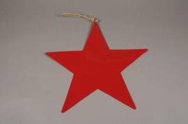 X011L7 Etoile en métal rouge D40cm