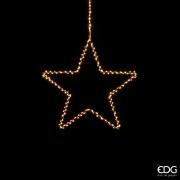 X011QL Metal star hanging 225 LED warm white D36cm
