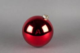X012ZY Boule plastique rouge D15cm