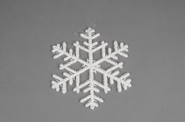 X013HH Glittery snowflake ornament H20cm