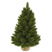 X015DQ Artificial Christmas tree and jute bag H60cm