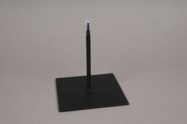 x015ec Socle métal noir 12x12cm H13cm
