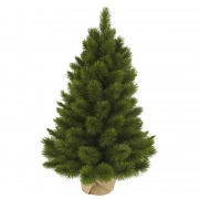 X016DQ Artificial Christmas tree and jute bag H90cm