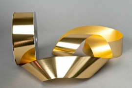 X016RB Bright gold metal ribbon 50mm x 100m
