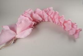 x017fz Guirlande de pétale de rose rose D30cm H100cm
