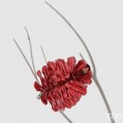 X017QL Clip pomme de pin rouge D8cm H10cm