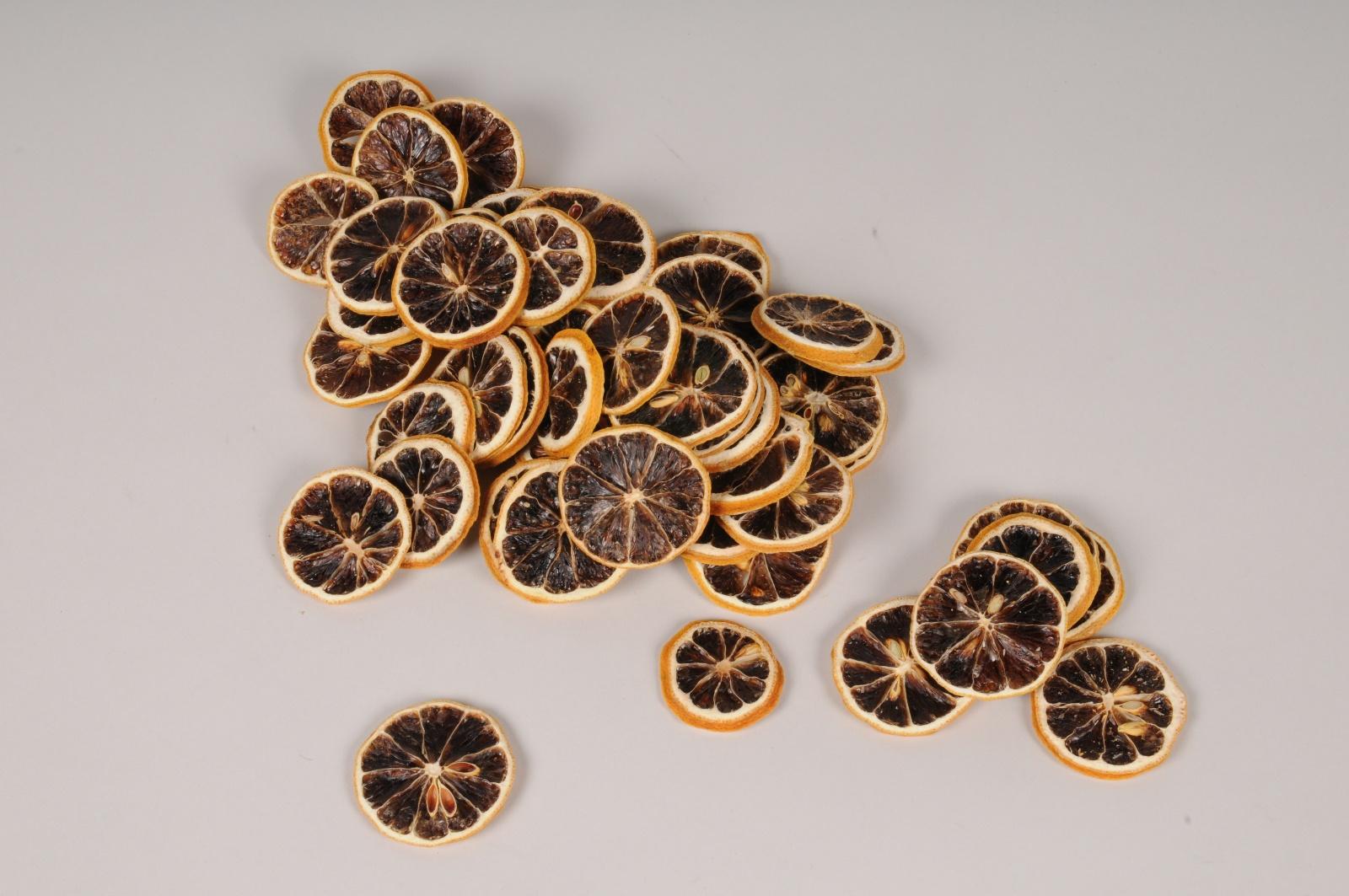 x018lw Tranches de citron jaune séchées 250g