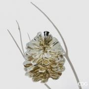 X018QL Clip pomme de pin or D10cm H14cm