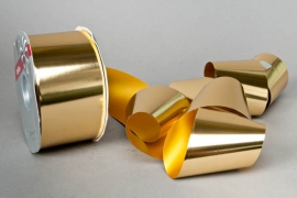 X018RB Bright gold metal ribbon 69mm x 100m