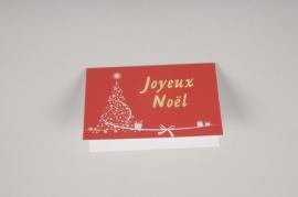 X019MQ Paquet de 10 cartes Joyeux Noël