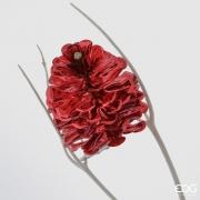 X019QL Clip pomme de pin rouge D10cm H14cm