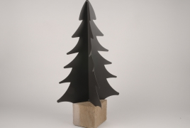 X019ZV Brown metal Christmas tree H82cm