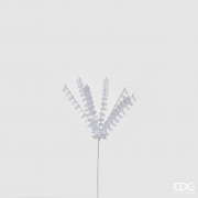 X021QL Branche sequin blanc H50cm