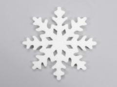 X021X4 Flocon neige blanc D25cm