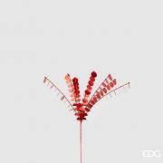 X022QL Branche sequin rouge H50cm