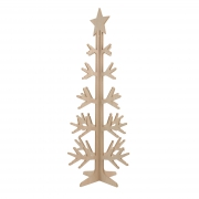 X023DQ Natural wooden Christmas tree H158cm