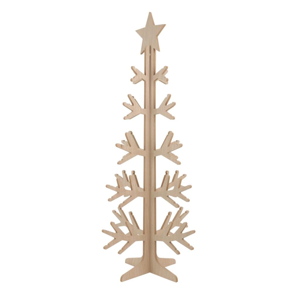 X023DQ Sapin en bois naturel H158cm