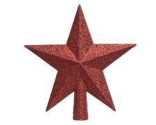 X023KI Etoile pailletée rouge D19cm