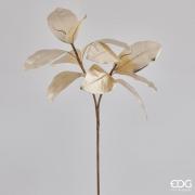 X023QL Branche de Magnolia artificiel or H74cm