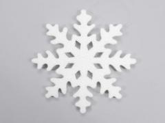 X023X4 Flocon neige blanc D50cm