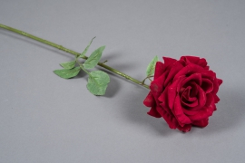 x024am Red velvet artificial rose H75cm