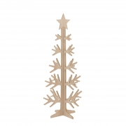 X024DQ Natural wooden Christmas tree H92cm