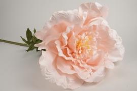 x024fz Pivoine artificielle rose H105cm