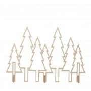 X025DQ Décoration forêt en bois naturel L100cm H70cm