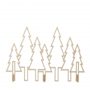 X025DQ Natural wooden forest decoration 100cm x 70cm