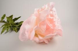 x025fz Pivoine artificielle rose H120cm
