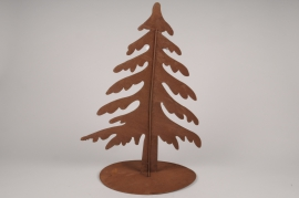 X025L7 Brown metal Christmas tree H62cm