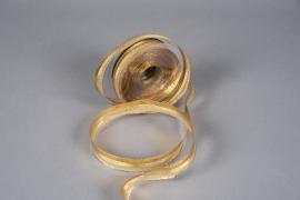 X026QL Reinforced striped metallic ribbon gold 25mmx25m