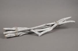 x026wg Botte de liane naturelle blanchi 60cm