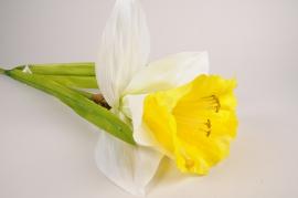 x027fz Artificial daffodil H95cm