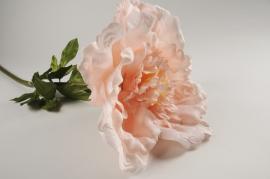 x027fz Pivoine artificielle rose poudré H120cm