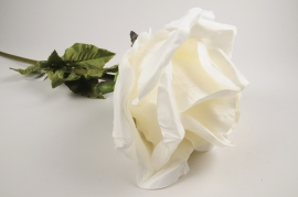 x028fz White artificial rose H105cm