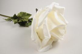 x028fz White artificial rose H105cm