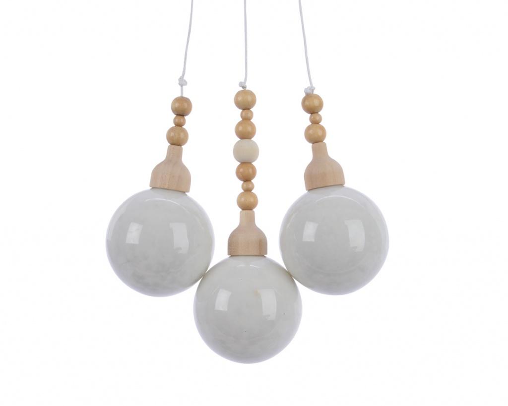 X028KI Deco 3 white balls H27cm