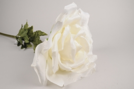 x029fz Rose artificielle blanche H110m