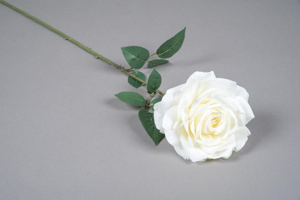 x030am Rose artificielle blanc crème H66cm