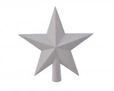 X030KI Etoile pailletée blanc D19cm