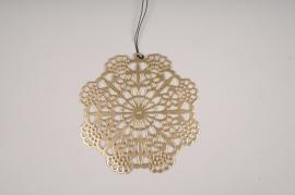 X030L7 Golden metal decoration D13cm