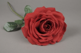 x031am Rose artificielle rouge H65cm